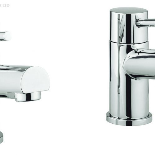 Adora Globe2 Pair of Bath Pillar Taps MBGO340N+