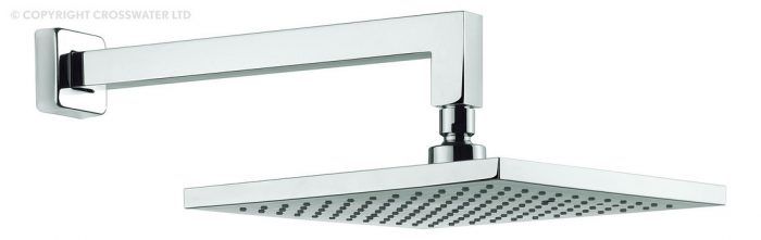 Adora Planet 250mm Square Shower Head and Wall Arm MBPSWF25