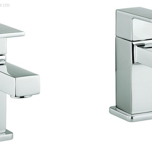 Adora Quantum2 Modern Chrome Bath Pillar Taps MBQM340D+