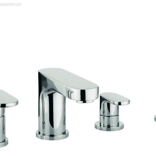 Adora Style 4 Hole Bath Shower Mixer Set MBST440D