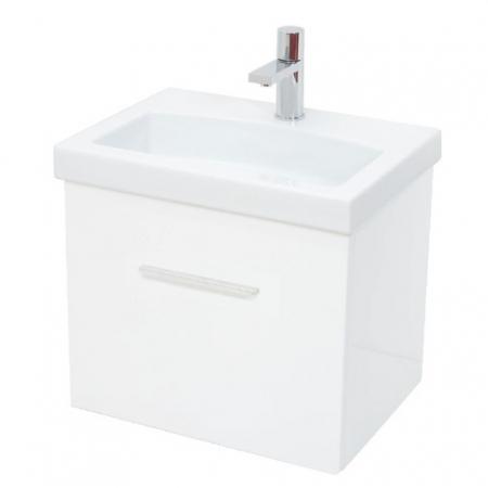 Saneux Monty 50cm white NO tap hole basin unit set