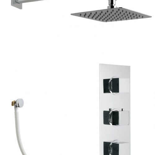 Vado Mix 3 Handle 2 Outlet Square Shower Package MIX-1740-C/P