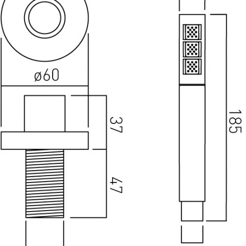 Vado mix deck mounted shower kit MIX-DECKKIT-C/P