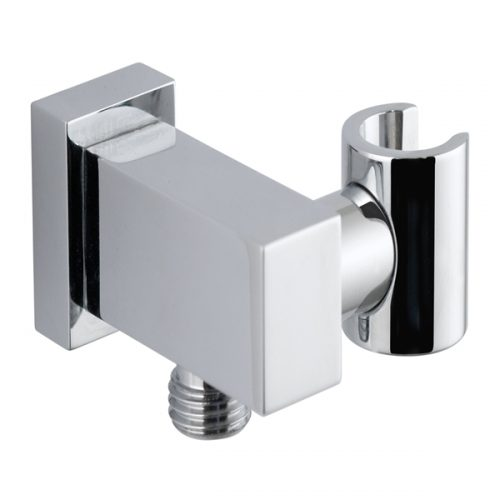 Vado mix integrated square wall outlet and bracket MIX-WEO-C/P