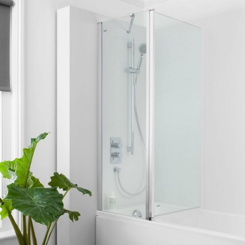 Crosswater CLICK Double Bath Screen 1150 to 1170 NBDSC1150