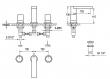 Saneux NICHOLSON 3 hole lever less basin mixer NI103