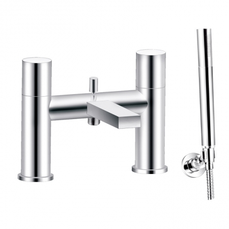 Saneux Nicholson deck-mounted 2-handle bath/shower mixer NI115