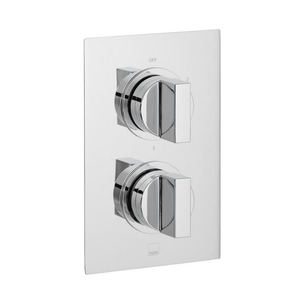 Vado Notion 3 Outlet 2 Handle Thermostatic Valve With Diverter-0