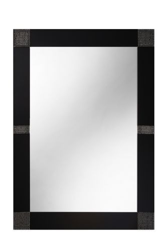Opus 60cm x 80cm Black Crystals Bathroom Mirror B004808