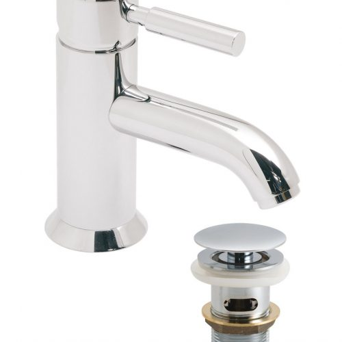 Vado Origins mono basin mixer with waste ORI-100/CC-C/P