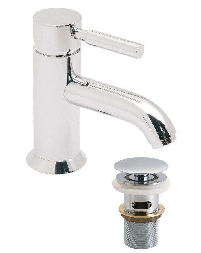 Vado Origins mono basin mixer with waste ORI-100/CC-C/P