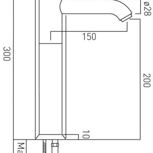 vado extended mono basin mixr singl lever ORI-100E/SB-C/P