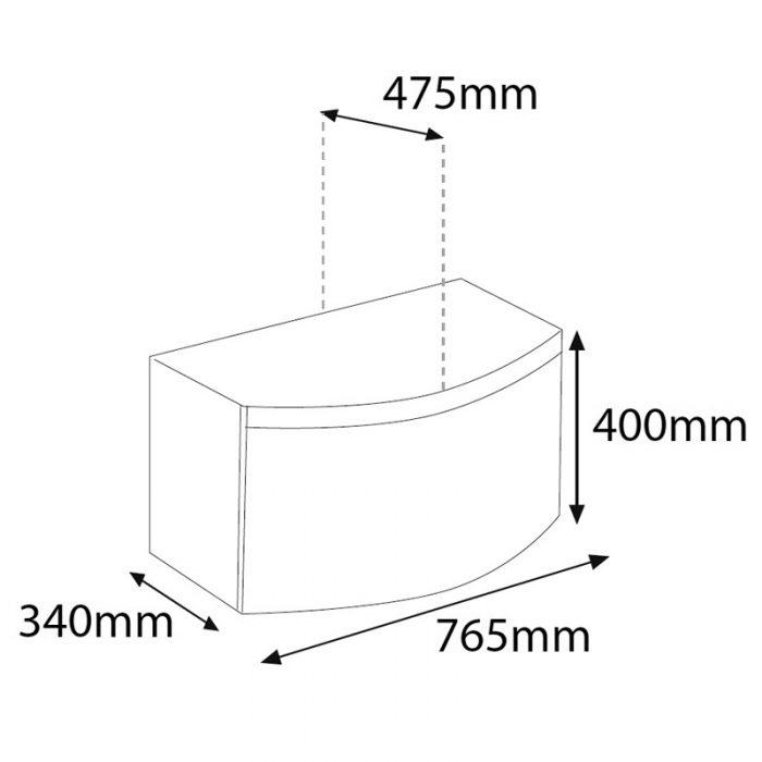 Saneux Poppy 800mm Grey Soft Close Drawer Unit PF2205