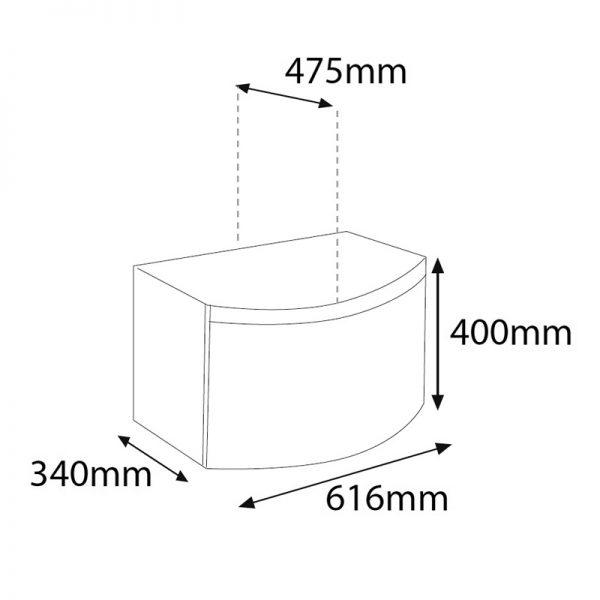 Saneux Poppy 650mm White Soft Close Drawer Unit PF3201