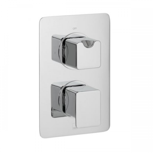 Vado Phase 1 Outlet 2 Handle Thermostatic Shower Valve-0