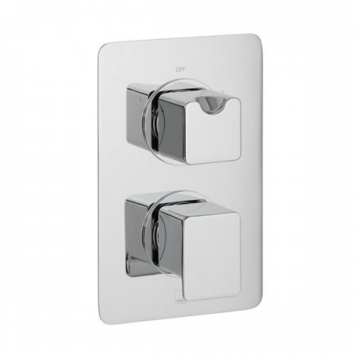 Vado Phase 2 Outlet 2 Handle Concealed Thermostatic Shower Valve -0
