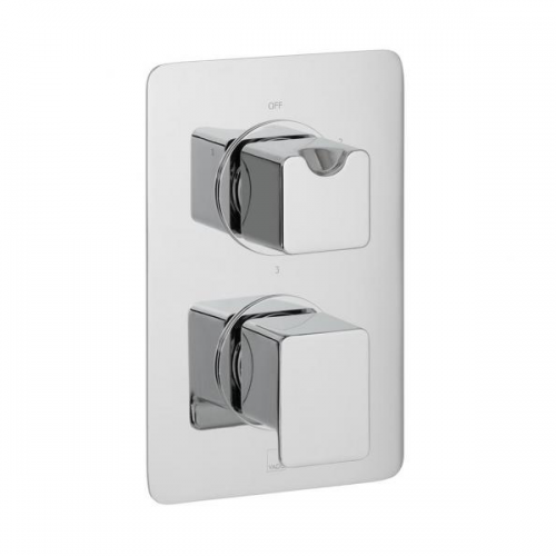 Vado Phase 3 Outlet 2 Handle Concealed Thermo Shower Valve-0