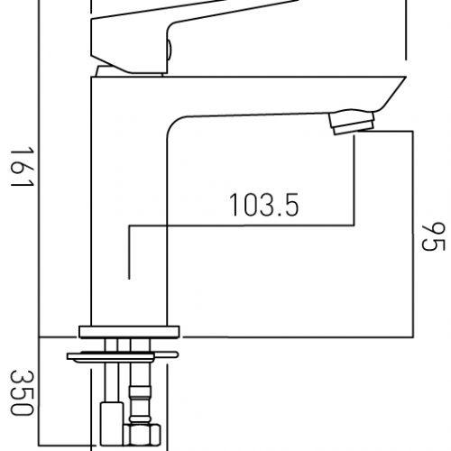 Vado Photon mini mono basin mixer tap PHO-100M/SB-C/P