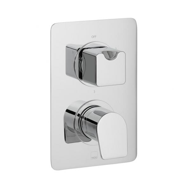 Vado Photon 3 Outlet 2 Handle Concealed Thermo Shower Valve-0