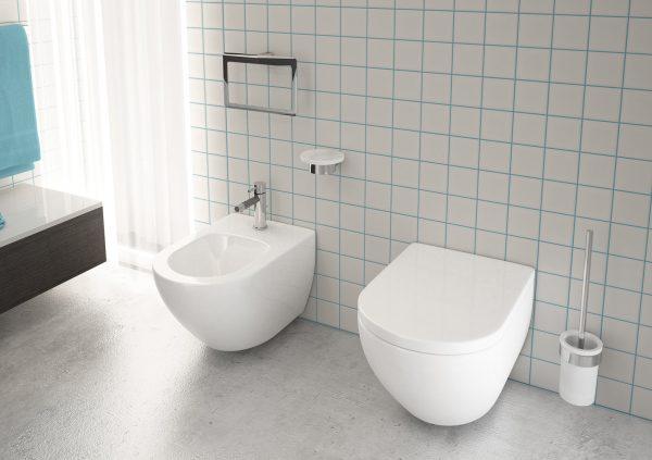 Gedy Pirenei Chrome Bathroom WC Brush Set PI33/03-13