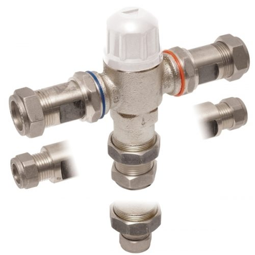 Vado i-tech protherm in-line thermo valve TMV3 PRO-5001-N/P