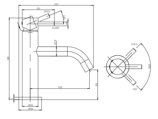 Crosswater Mike Pro Basin Monobloc Mixer Tap PRO110DNC-1234