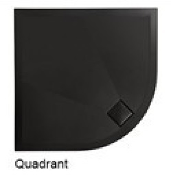 Simpsons 900mm plus+ton Quadrant Shower Tray in Black PT0Q900BM