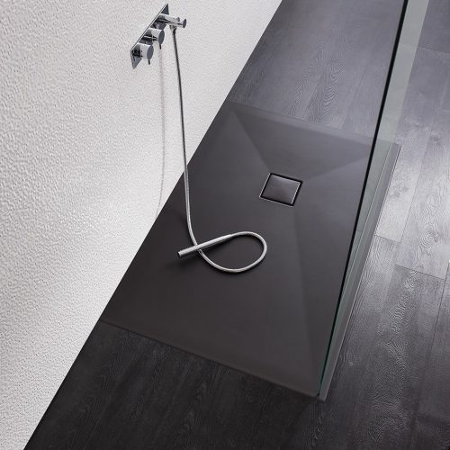 Crosswater plus+ton 800x1700 Shower Tray in Black PT0R8170BM