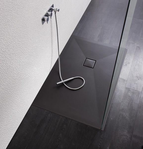 Simpsons plus+ton 800x1700 Shower Tray in Black PT0R8170BM