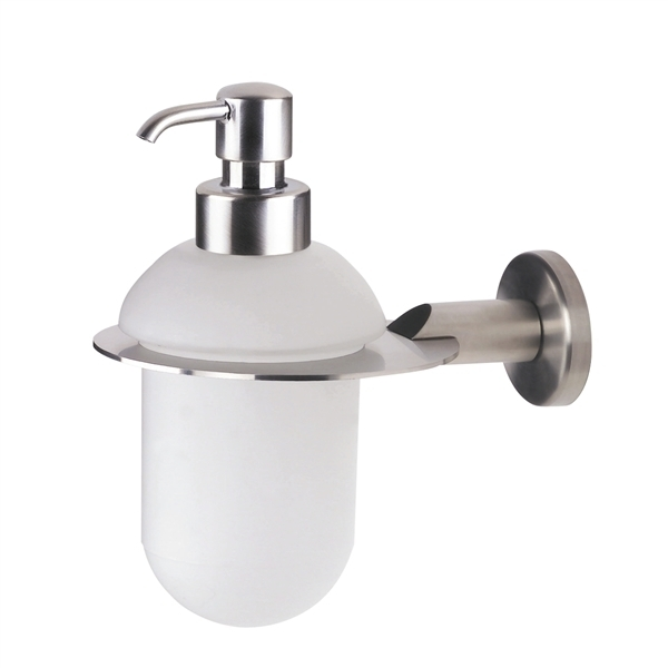 Urban Steel Glass Soap Dispenser in Brushed Finish PZ01D