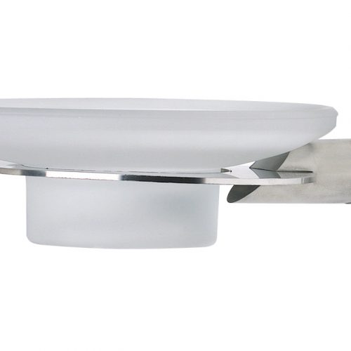 Urban Steel Glass Soap Dish in Polished Chrome PZ01P