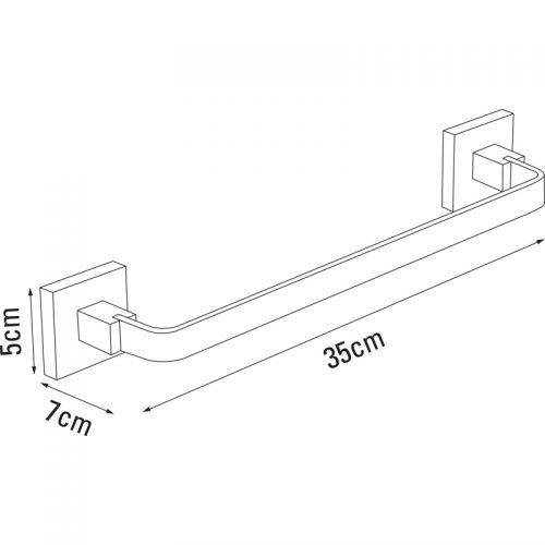 Saneux Quadro Towel rail 30cm QU140