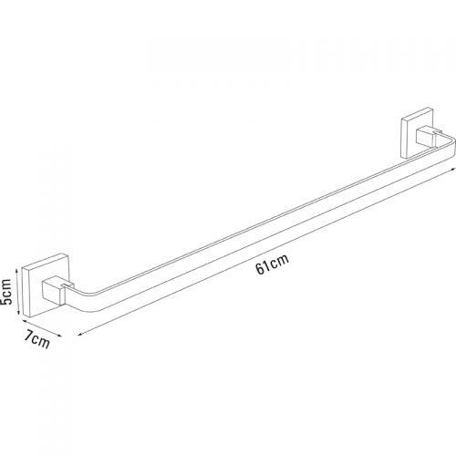 Saneux Quadro Towel rail 56cm QU141