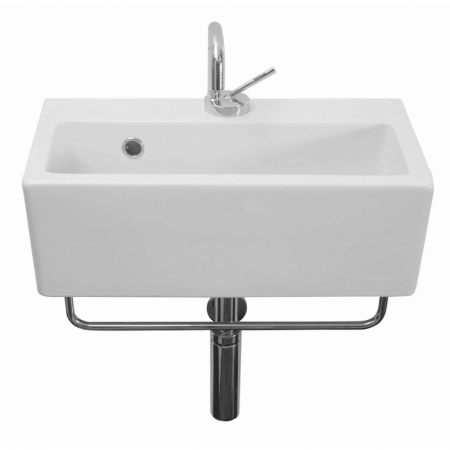 Saneux Quadro 50 x 27cm One Tap Hole washbasin QU17