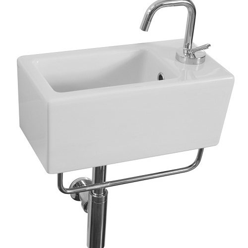 Saneux Quadro 40 x 20cm small narrow basin 1TH QU20
