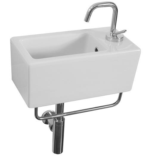 Saneux Quadro 40 x 20cm small narrow basin 1TH QU20