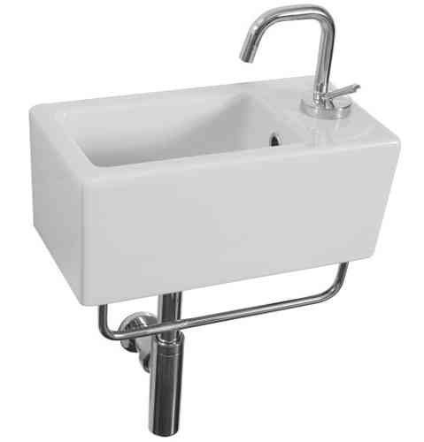Saneux QUADRO 40x20cm NO TAP HOLE washbasin QU20U