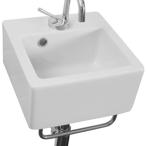 Saneux Quadro 30 x 30cm Small Square Basin 1 TH QU30-0