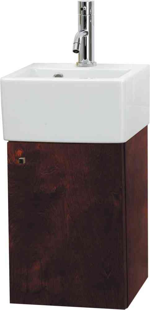 Saneux Qaudro Dark Walnut 285mm Bathroom Unit QU30C-DW-0