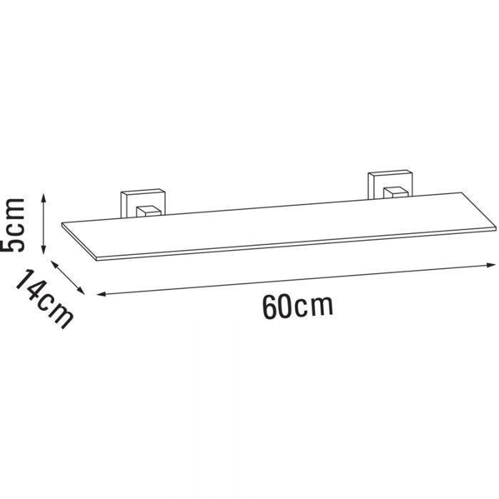Saneux QUADRO 60cm Bathroom Glass shelf QU390-4424