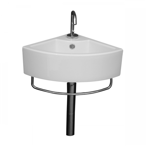Saneux Quadro 36cm Corner Bathroom Basin Small Washbasin-0