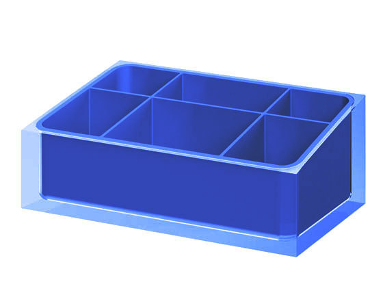 Gedy Rainbow Organiser in Blue RA00-05