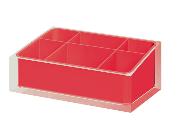 Gedy Rainbow Bathroom Organiser in Red RA00-06