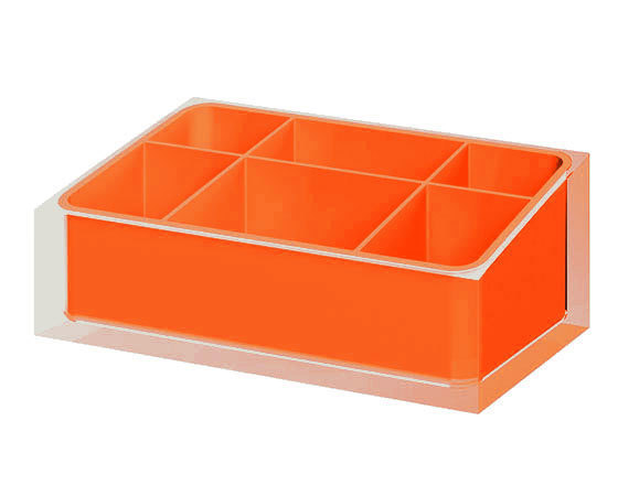 Gedy Rainbow Bathroom Organiser in Orange RA00-67