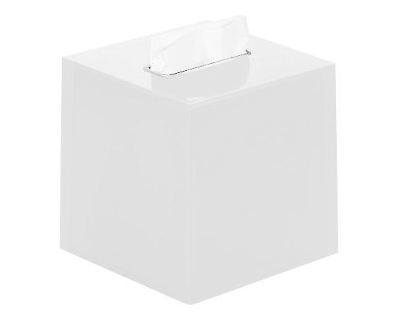 Gedy Rainbow Square Tissue Box in White RA02-02