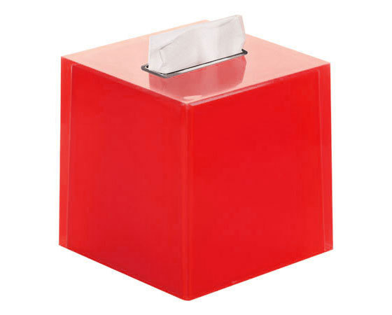 Gedy Rainbow Square bathroom Tissue Box in Red RA02-06