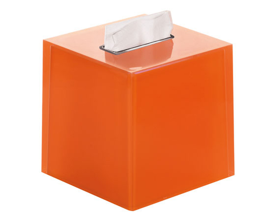 Gedy Funky Rainbow Square Tissue Box in Orange RA02-67