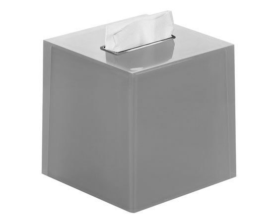 Gedy Rainbow Square Bathroom Tissue Box in Silver RA02-73