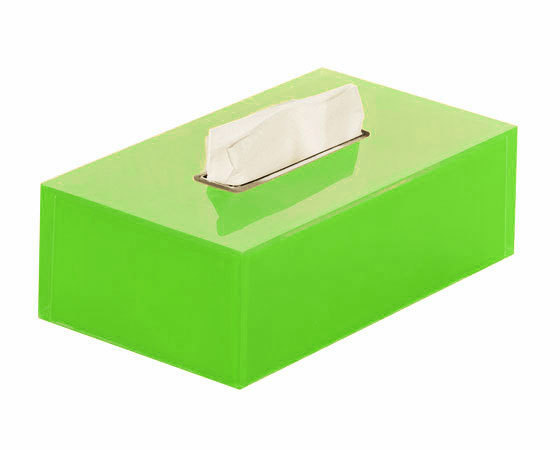 Gedy Rainbow Rectangular Tissue Box In Green RA08-04