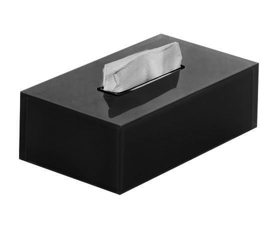 Gedy Rainbow Rectangular Tissue Box In Black RA08-14